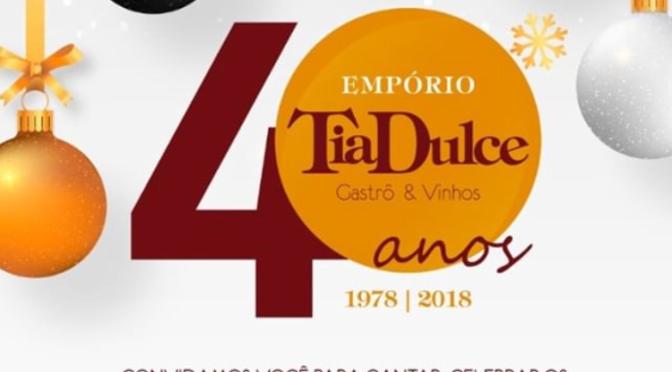40 anos do Empório Tia Dulce em Olinda.